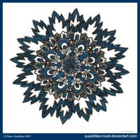 Feeling Blue Mandala by Quaddles-Roost