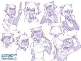 Violet sketches by funkyalien