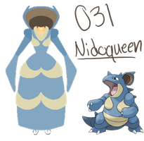 Pokedresses - 031 -  Nidoqueen by AK-Manga