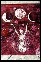 Drawing Down the Moon Batik by ReincarnationsDotCom