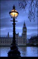 Big Ben by Lamp light by Haywood-Photography