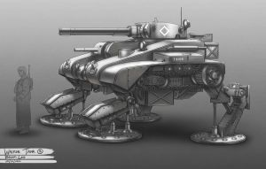 WW2 Walker Tank 03 by bramLeech
