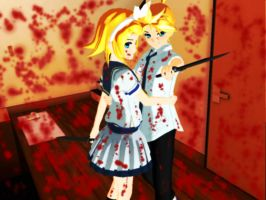 Kagamine Rin Len Killers by DeathNoteE