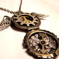 Winged Peace Steampunk Locket by SteamSociety