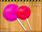 Heart Lollipops by sketched-dreams