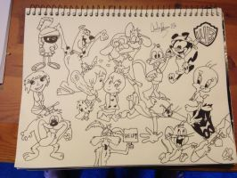 WB Character Collage by Shulky