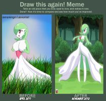 Gardevoir Before and After by DemonkingD17