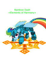 Ponycraft Rainbow Dash Paladin by CapnChryssalid