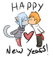 New Year's Kiss~ by LoveOverdose