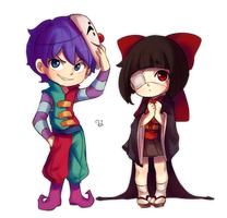 Chibi Jack and Hina by BiShakalaka
