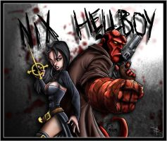 Nix and Hellboy by bennettua