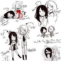 WHOA DOODLES FOR MOMO-BUTT-NEE-CHAN //WHAT by Natsuki12