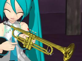MMD Trumpet Accessory by penguinMMD