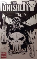 Cover sketch of punisher by vengaza