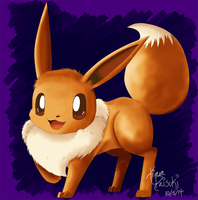 Very first Cintiq drawing :Eevee: by kiraradaisuki