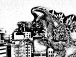 Godzilla promotional style by leathertachi