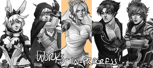 All these works in progress by viciousSHADi