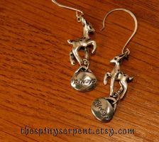 Silver Doe Always Earrings by kittykat01
