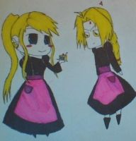 Ed and Winry maids by edXroy35