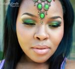 Green Arabic Makeup by NaturallyErratic