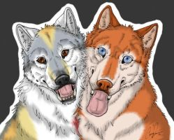 Friends Colored by Wolfgrl13