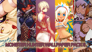 Monster Hunter PSP Wall-pack 6 by Hexykins