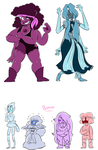 Spinel and Aquamarine by MudflapArts