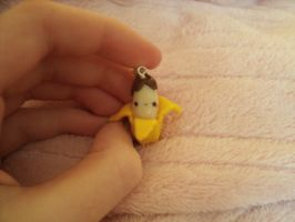 Kawaii Chocolate Banana charm by Chubbli