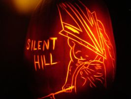 Silent Hill Pumpkin Carving by DistantVisions