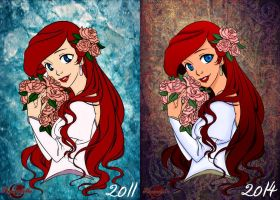 Kiss-From-A-Rose-Before-and-After by Amaradella