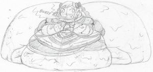 Enormously Engorged Elise by Ambipucca