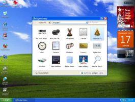 Sidebar For WinXP ....  Supports Win7 Gadgets by KeybrdCowboy