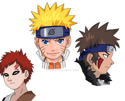 Naruto characters (coloured) by superheroarts