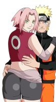 Naruto and Sakura by lrslink