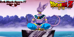 Beerus sitting by Evil-Black-Sparx-77