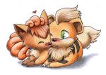 Vulpix and Growlithe Love by Togechu