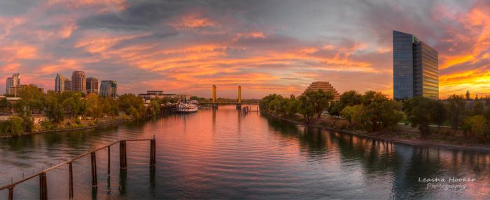Sacramento Sunset by LeashaHooker