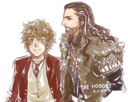 Thorin X Bilbo by fox-trail