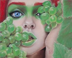 Crazy about grapes by Azalea2010
