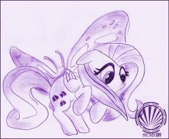 Fluttershy 'n Butterfly by sum3q
