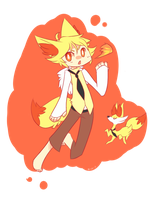 Ken the Fennekin by Sweet-n-treat