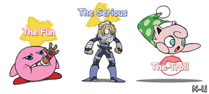 My Smash 4 Mains by SootToon