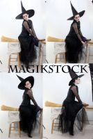 witch flying set by magikstock