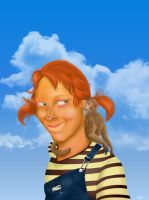 Pippi Longstocking by Cellaneo