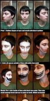 Ryuk Face Makeup Step-By-Step by UlyLHarp