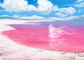 Pink lake by Develv