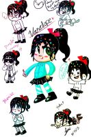 Vanellope sketches by Bubbi-Robot