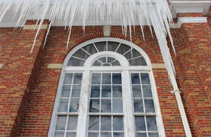 Hanging Icicles on an Old School by Toderico