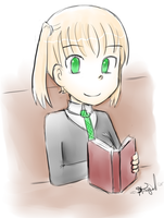 Bookworm by xKirameku-Lunaix