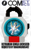 Request: Fan Lock - Ultraman Ginga Lockseed by CometComics